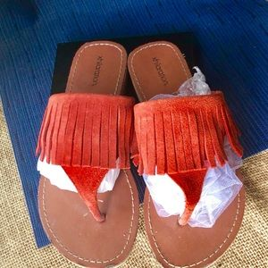 Leather Coral Sandals
